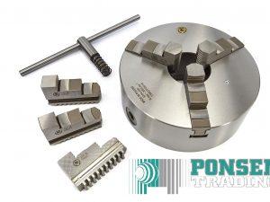 Bison 3-klauwplaat 125mm / 630mm  type 3205 – DIN 6350 – Gietijzer