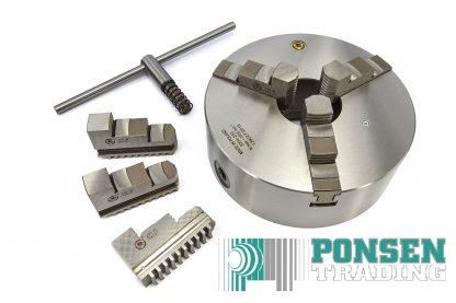 Bison 3-klauwplaat 200mm DIN 6350 3504-200 stalen uitvoering