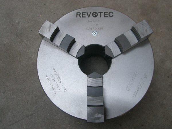 Revotec zelfcentr. 3-klauwplaat 160mm DIN 6350