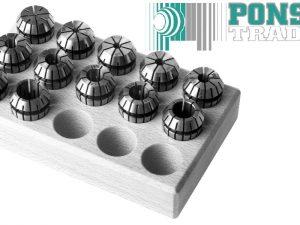 Spantangen set ER11 in houten blok