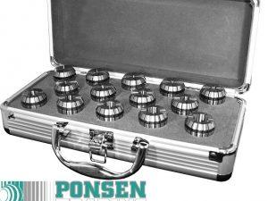 Spantangen set ER16 in aluminium koffer